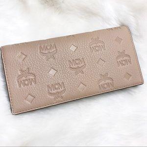 MCM Klara Beige bifold wallet